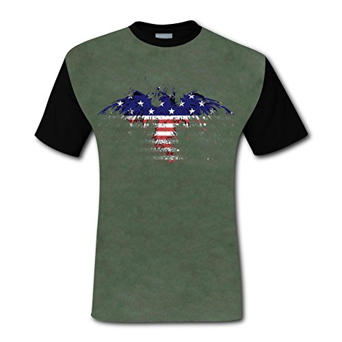 Sac Set Compression (LZQ Tshirt Man Cotton New Fashion Shirt 3D Printed With Flag Eagle For Men M)