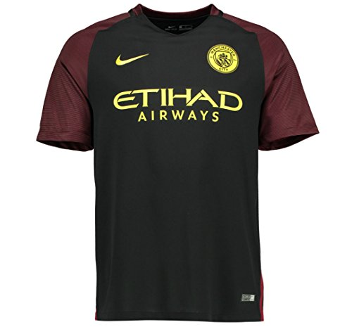 (Nike Kid's Manchester City 2016/17 Away Stadium Soccer Jersey (Youth X-Large) Black)
