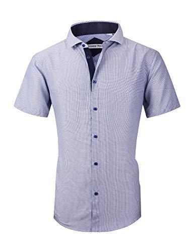 Mens Dress Shirts Long Sleeve Regular Fit Printed Shirt Button Down