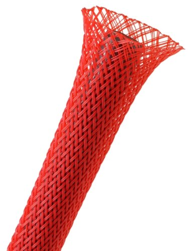 TechFlex PET 0.5 inch sleeving 25ft Red