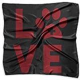 Love Vet Tech Paw Unisex Silky Scarf Handkerchief Bandana Wrap Scarf