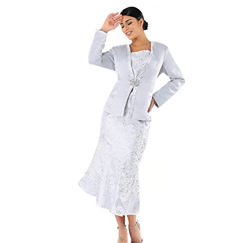 Kueeni Women Church Suits With Hats Church Dress Suit For Ladies Formal Church Clothes,Suits Only,020 by Kueeni (Image #2)