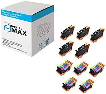 Series 24 5B5CS24 5-Black//5-Color SuppliesMAX Compatible Replacement for Dell P713W//V715W High Yield Combo Pack