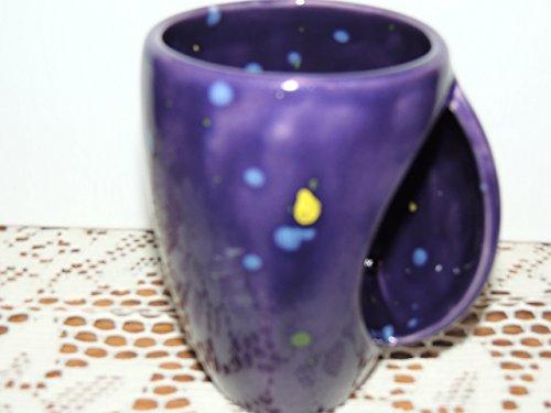 Hand Warmer  Snuggle Mug Unique Purple Speckled Glaze  Food And Dishwasher Safe