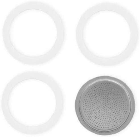 Pack of 3/gaskets /Filter for 6-Cup Espresso Coffee Maker Aluminium