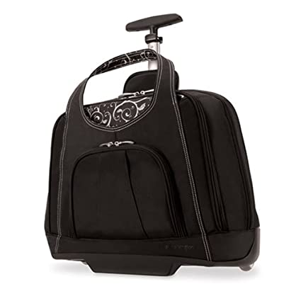 189deac7891f Amazon.com  Kensington K62533US Contour Balance Notebook Roller Bag in Onyx