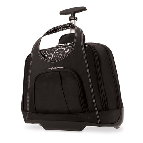 Kensington K62533US Contour Balance Notebook Roller Bag in Onyx, Fits Most 15-Inch - Nylon Case Computer Rolling