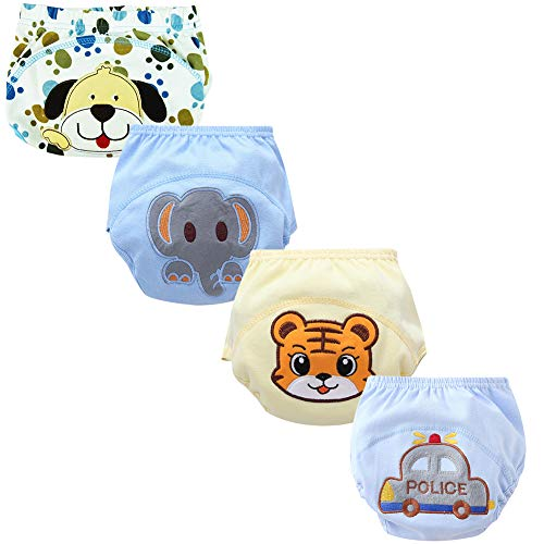 Training Pants Waterproof (Goodkids Baby Toddler Breathable Cotton Training Pants Waterproof Cartoon 4 Pcs Potty Shorts Underwear (Detc 100))