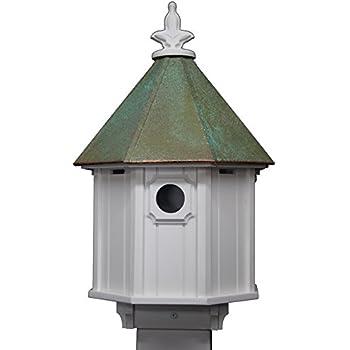 Amazon Com Two Story Birdhouse Verdigris Patina Copper