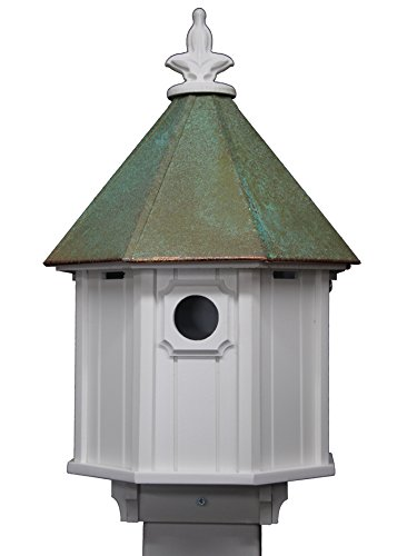 Dark Verdigris Top - NC Birdguy Octagon Bird House