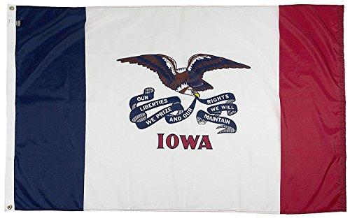 FlagSource Iowa Nylon State Flag, Made in The USA, 3x5