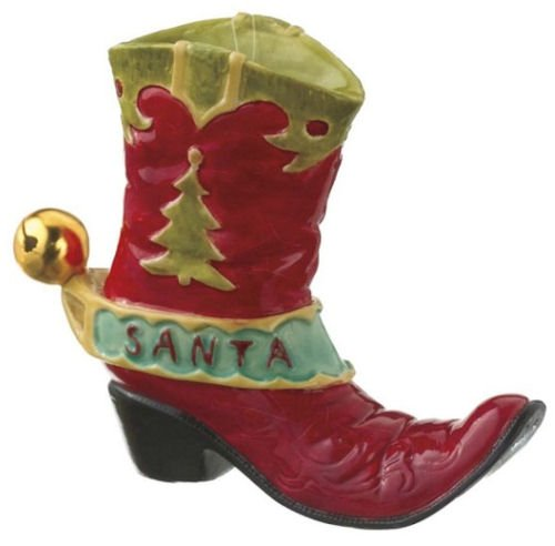 Midwest Gloves Santa Cowboy Boot Christmas Ornament