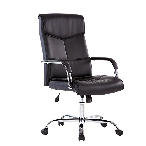 Sidanli Mid Back Executive Office Chair, Lumbar Support Swivel Desk PU Chair ,Computer