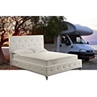 8-Inch Memory Foam Mattress in Aloe Vera Cover, Short Queen (RV, Trailer, Camper, Truck)