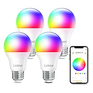 Best Epic Trends 41dl6YAa1%2BL._SS300_ Linkind Smart WiFi Light Bulb, A19 E26 RGBW LED Bulb, Dimmable Multicolor/Tunable White, Works with Alexa, Google Home…