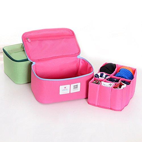 Tofern Damen multifunktionale Outdoor Taschen Kosmetiktasche Unterwäsche Taschen Koffer Veranstalter Aufbewahrungsbeutel-grün