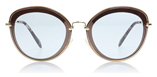 Miu Miu MU50RS UFB9L1 Brown Cats Eyes Sunglasses 54mm by Miu Miu