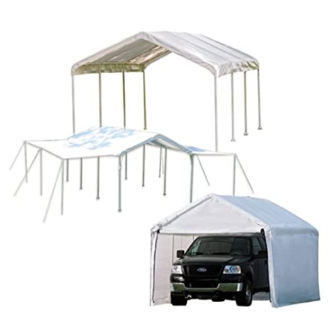 ShelterLogic 10x20 1 3 8quot 8 Leg Canopy With Enclosure And Extension