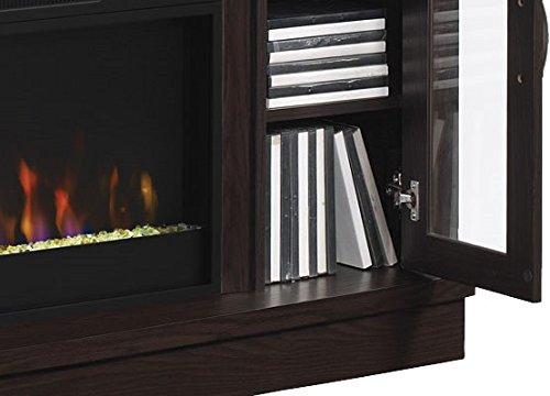 ClassicFlame Hutchinson Infrared Electric Fireplace Entertainment Center, Oak Espresso