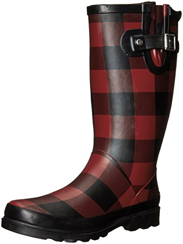 Western Chief Women's Printed Tall Rain Boot, Buffalo Gal, 7 M US