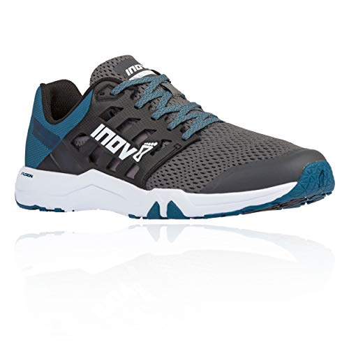 Inov-8 Mens All Train 215 | Lightweight Cross Training Athletic Shoe | for Versatile Training | Great Support When Weight Lifting and Power Lifting |Grey/Blue Green M10.5/ W12