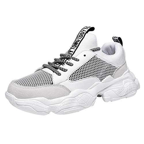 iHPH7 Sneakers Casual Comfort Cross Trainer Fashion Wild Mix Colors Casual Shoes Comfortable Breathable Low-Top Men (39,White) -