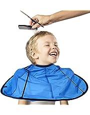 Capa de Peluquería, Salon Barberos Peluquería Peluquería Cabello Ropa Cabo Vestido para Niños Adultos Impermeable(Pink)