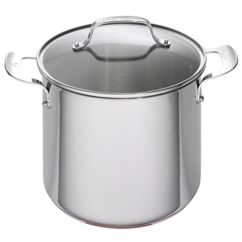 Stainless Copper Bottom Encapsulated - Emeril Lagasse Stainless Steel Copper Core Stock Pot, 8 quart, Silver