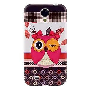 xiao Cute Owl Pattern Soft TPU IMD Case for Samsung Galaxy S4 I9500