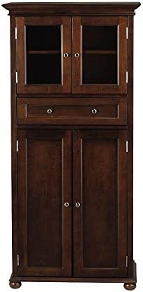 Home Decorators Collection Hampton Bay 1 Drawer Tall Bath Cabinet, 4-Door, Sequoia