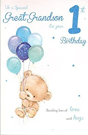 Special Great Grandson 1st Birthday By Icg Cards Amazon