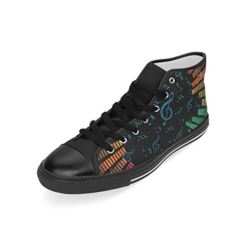 D-story Custom Music Note Mens Classic High Top Scarpe Di Tela Sneaker Di Moda