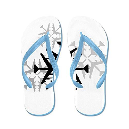 Fiocchi Di Neve Per Aviazione Da Cafepress B-52 - Infradito, Sandali Infradito Divertenti, Sandali Da Spiaggia Blu Caraibico