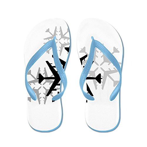 Cafepress B-52 Luchtvaart Sneeuwvlokken - Flip Flops, Grappige Thong Sandalen, Strand Sandalen Caribbean Blue