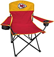 Rawlings NFL XL Lineman Tailgate and Camping Folding Chair, Red, Yellow, One-Size