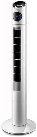 Opinión sobre FHDF Ventilador de Torre Oscilante con Función de Control Remoto, Ajustable Climatizador Portatil Frio Temporizador de 8 Horas Funcionamiento Silencioso, Dormitorio La Oficina (Blanco, 40W)