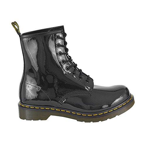 Black Dr Martens Boots Patent 1460 x1Tq61v
