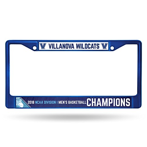 Rico NCAA Villanova Wildcats 2018 Men's National Basketball Champions Colored Chrome License Plate (Frame Ncaa Mens Basketball)