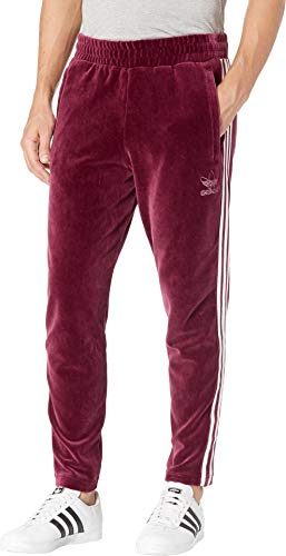- adidas Originals Men's Originals Velour 3-Stripes Trackpants, Maroon, L