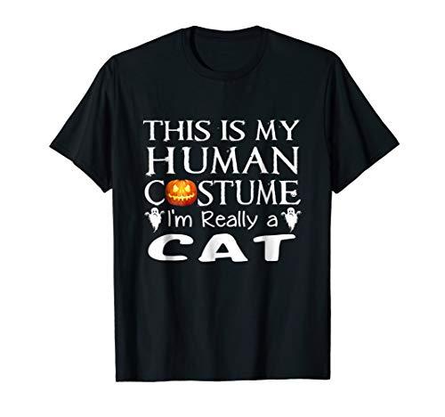My Human Costume CAT shirt Gift Halloween Funny ()
