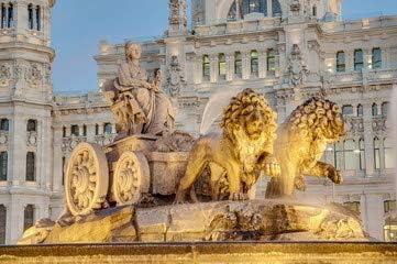 Fuente de Cibeles at Madrid, España (69263947), lona, 120 x 80 cm: Amazon.es: Hogar