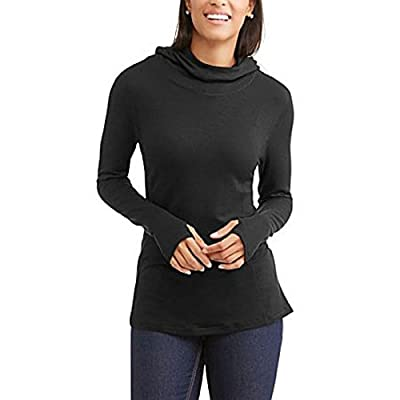 Danskin Now Women's Soft French Terry Active Hoodie Tunic Sweater w/Long Sleeve & Thumbholes