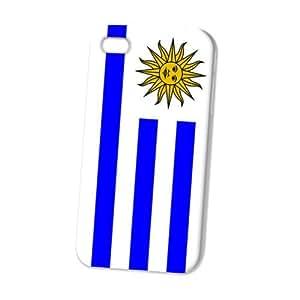 Case Fun Apple iPhone 4 / 4S Case - Vogue Version - 3D Full Wrap - Flag of Uruguay Style 2