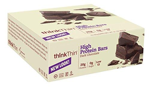 thinkThin chocolat noir, sans gluten, Bars 21 onces (paquet de 10)