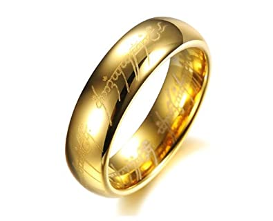 Asma Lord Of The Rings Gold Color Ring For Men