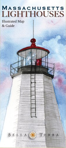 Massachusetts Lighthouses Illustrated Map & Guide
