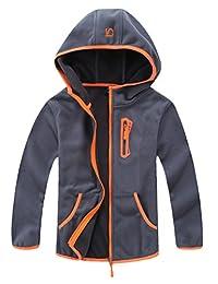 Mallimoda Boy's Polar Fleece Hooded Jacket Coat Zipper Sweatshirt