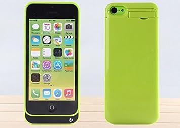Ultra® edición verde 2200 mah cargador Power Bank casos para Iphone 5 c 5 5s y SE modelos recargable incluida un media kick stand disponible en blanco ...