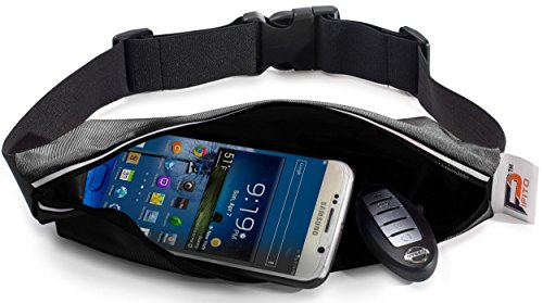 Running Belt Waist Pack by Pifito (TM) - Outdoor Pouch Bag for Sports, Hiking, Exercise, Walking, Fitness, Jogging or Gym Workout - Durable Fanny Pack Fits all Phones - Tm Dual Lock 3m