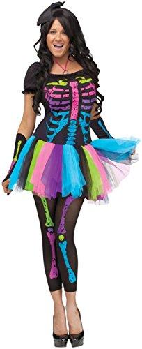 [Funky Punk Bones Adult Costume - Small/Medium] (Funky Punk Bones Adult Costumes)